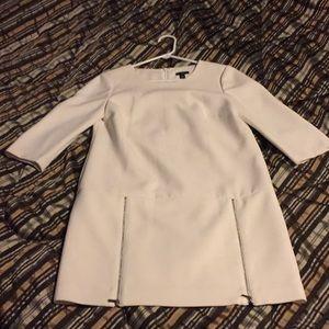 Ann Taylor drop waist cream dress